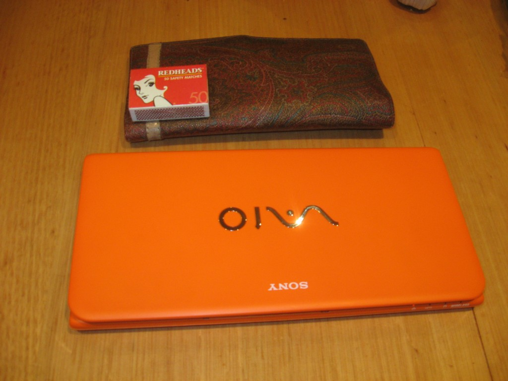 VAIO alongside woman's wallet