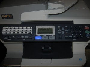 Brother MFC-9840CDW Control panel