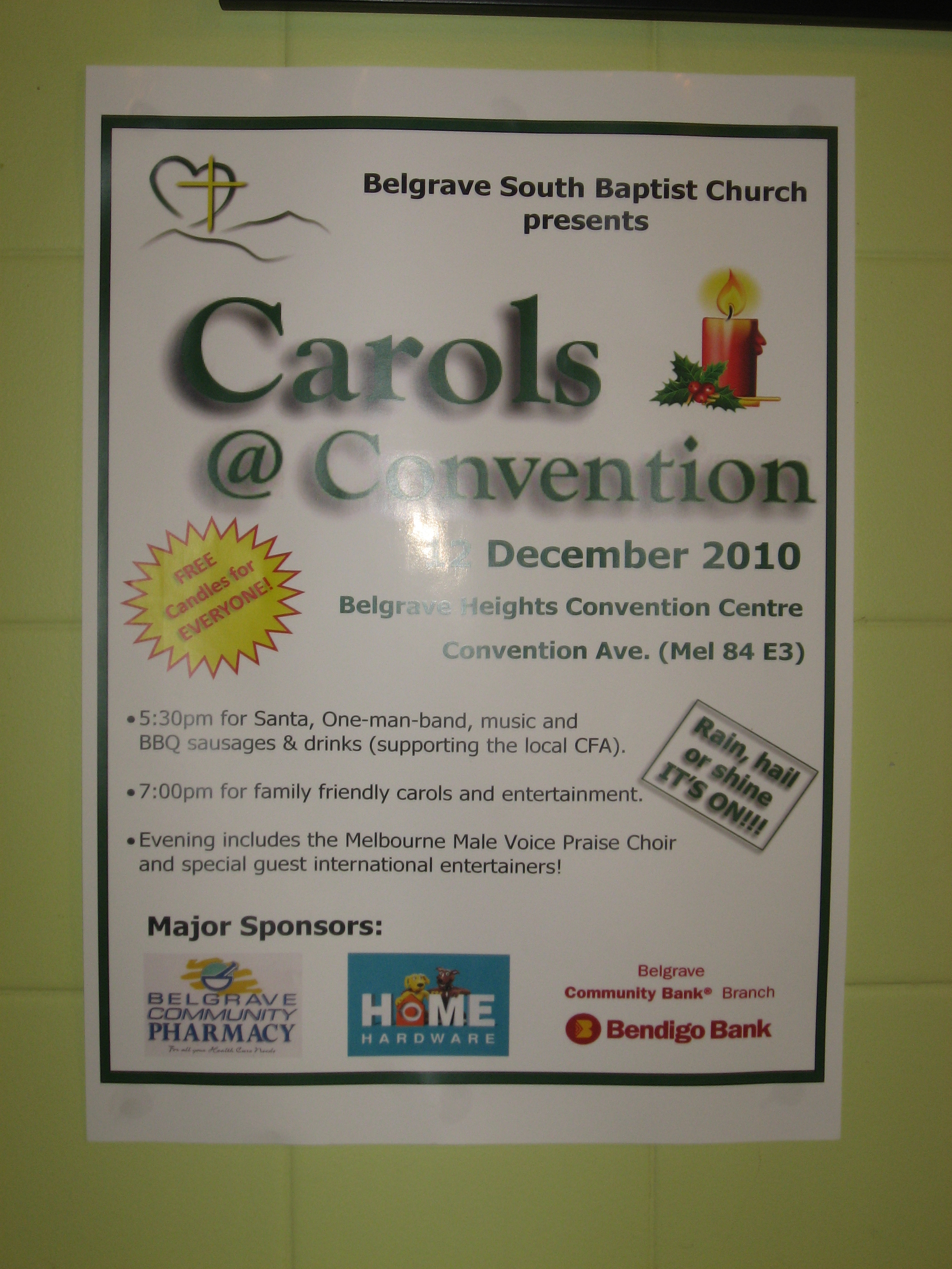 A3 sign used to promote an event
