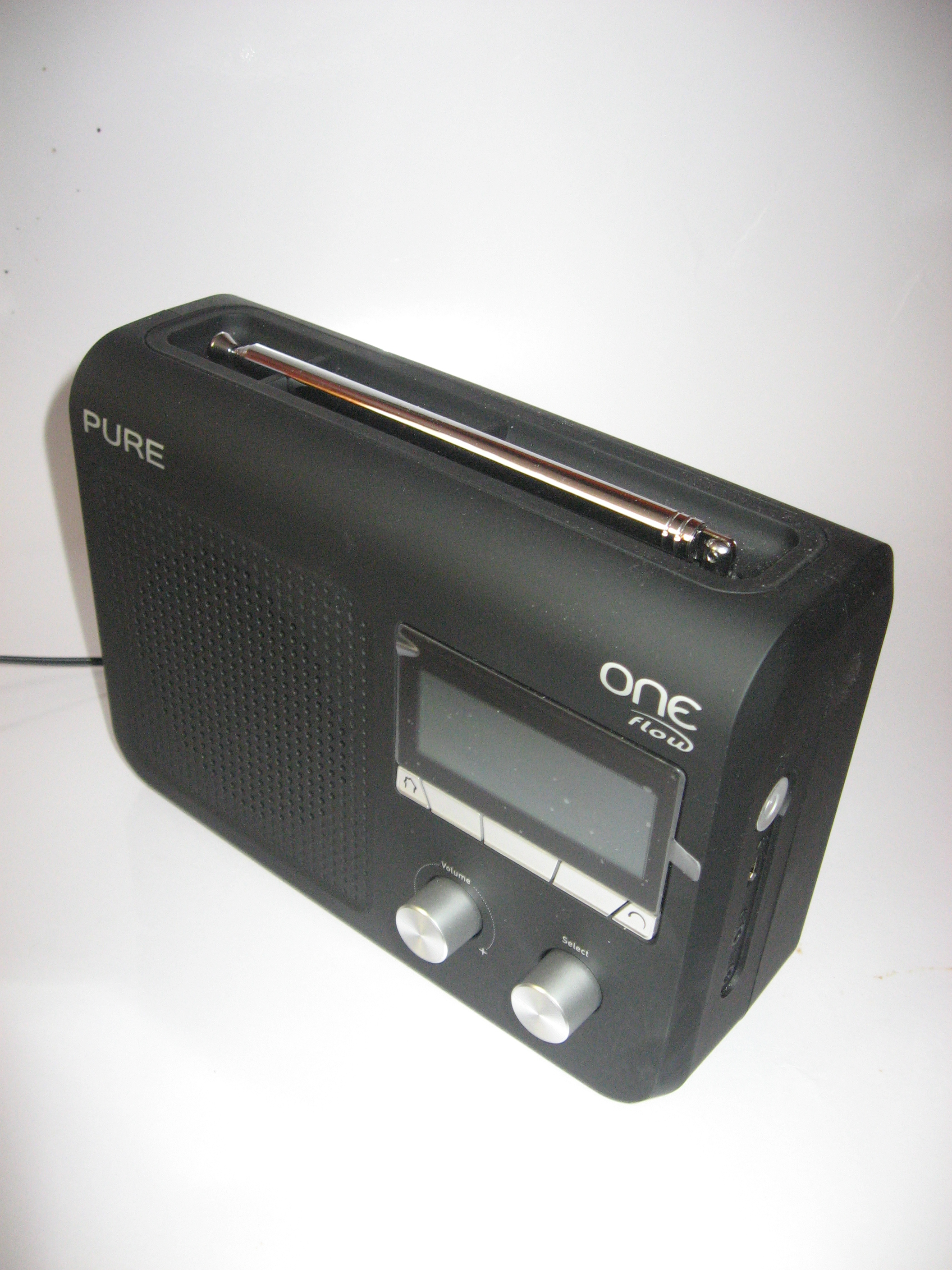 Pure One Flow portable Internet radio - side view