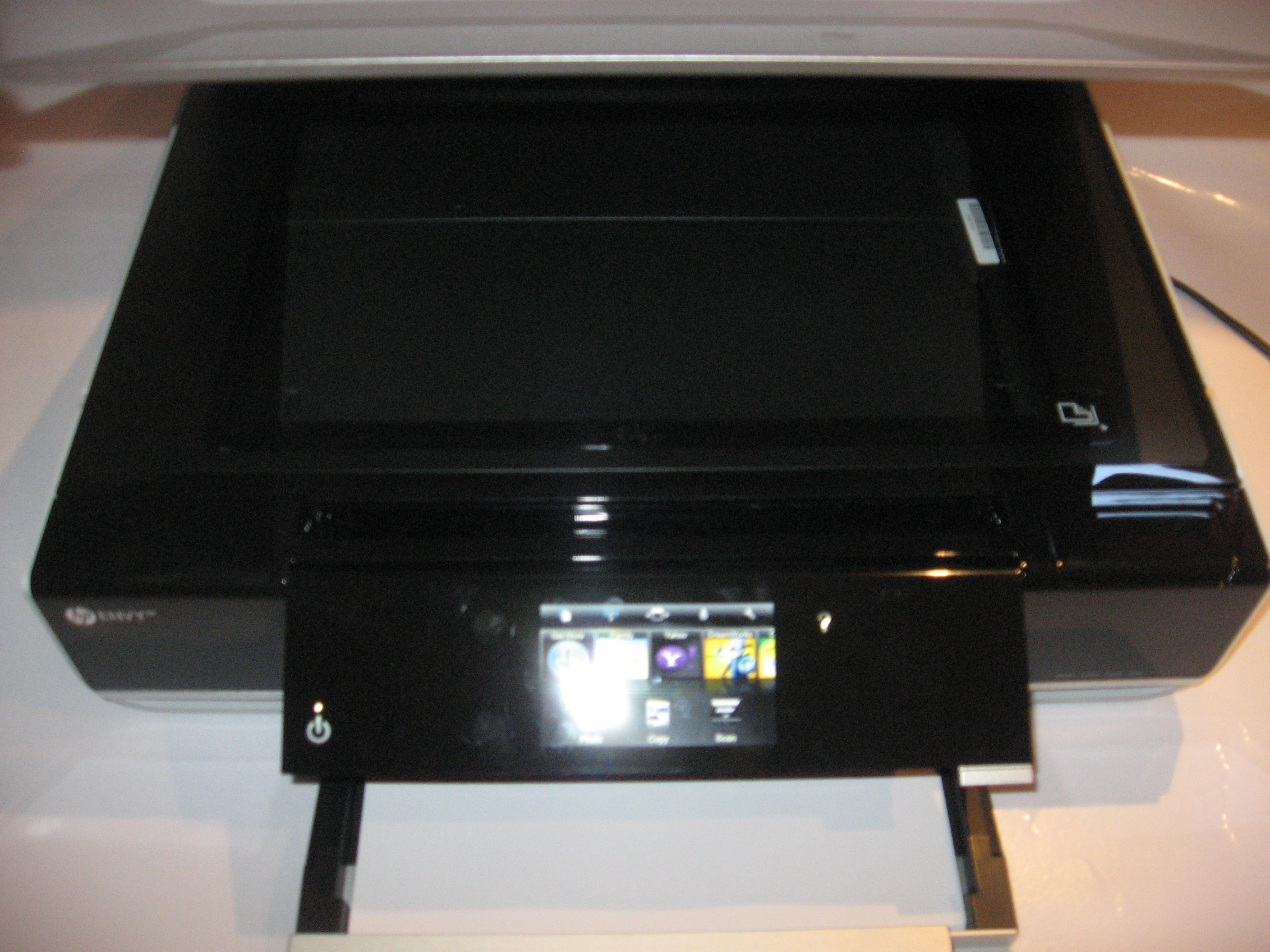 HP Envy 100 all-in-one printer (D410a) all lids open