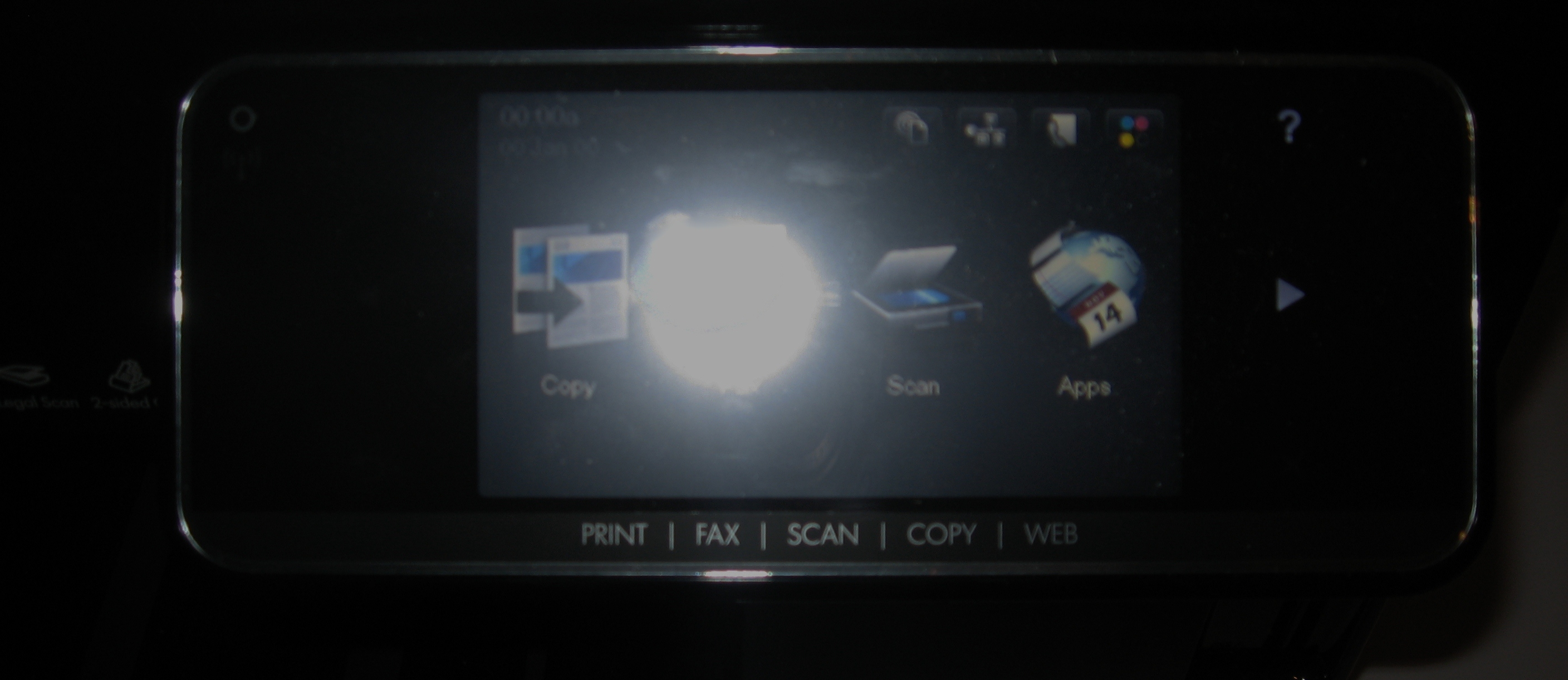 HP OfficeJet Pro 8500a Plus control panel
