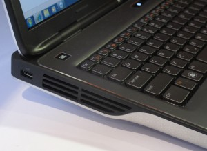 Dell XPS L702x multimedia laptop side vent grille