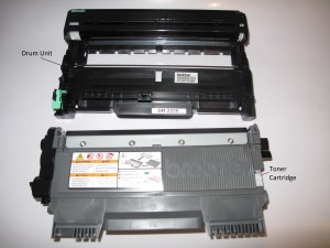 Brother HL-2240D Compact Laser Printer - Toner Cartridge and Drum Unit separate