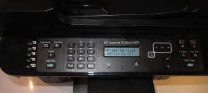 HP LaserJet M1536 monochrome laser multifunction printer control panel - ePrint enabled