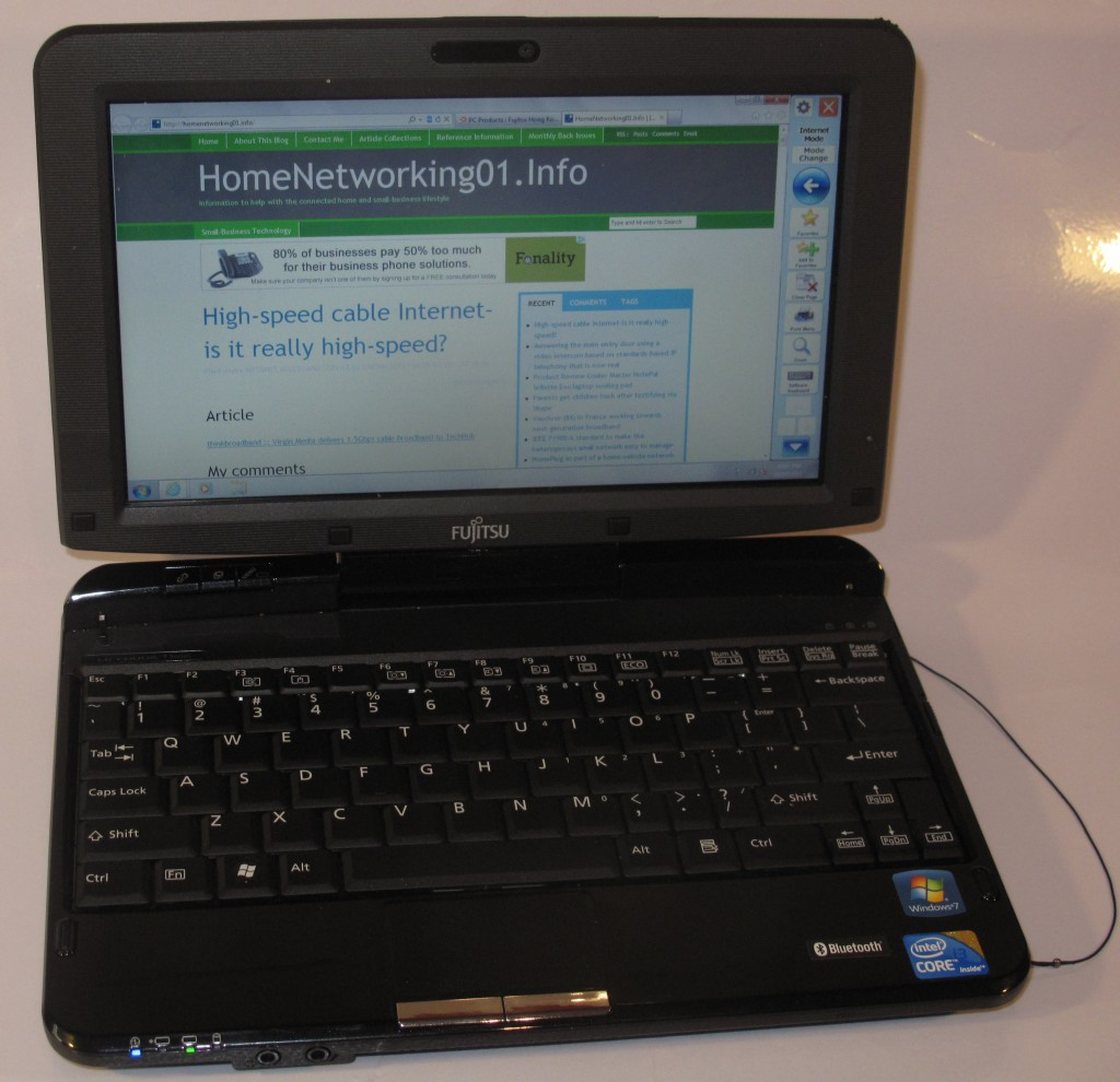 Fujitsu Lifebook T-Series TH550M convertible notebook