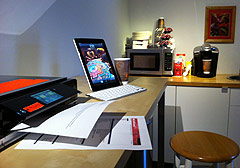 HP Envy 100 used as public printer at Stay On Beverly