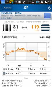 Footy Now AFL scoreboard app
