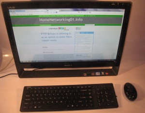 Sony VAIO J Series all-in-one computer