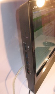 Sony VAIO J Series all-in-one computer side connections