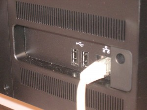 Sony VAIO J Series all-in-one - rear connections
