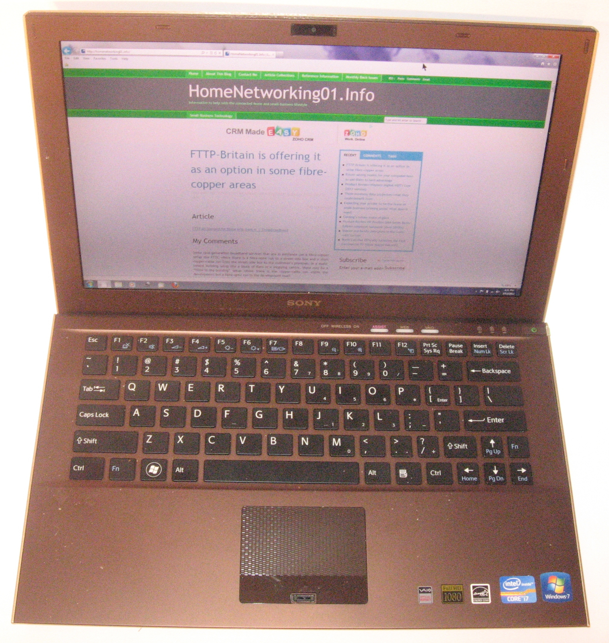 Sony VAIO Z Series ultraportable computer