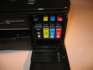 Brother DCP-J925DW multi-function printer front-loading ink cartridges