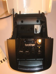 Brother QL-700 tape bay