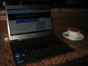 Toshiba Z830 Ultrabook in cafe