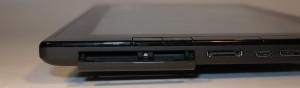Lenovo Thinkpad Tablet SD card and SIM card slot