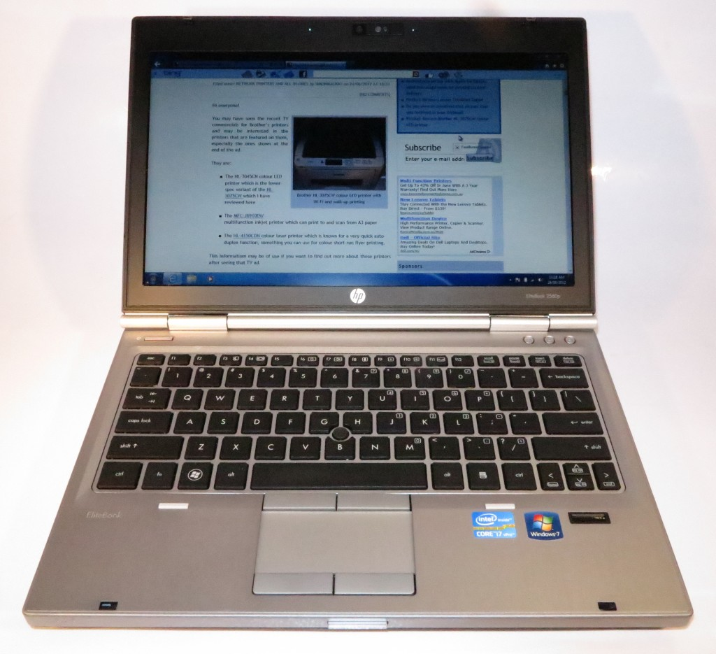HP Elitebook 2560p business notebook