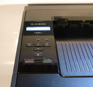 Brother HL-6180DN laser printer control panel detail