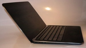 Dell XPS 13 Ultrabook left hand side connections - power, USB 2.0, 3.5mm audio in-out jack