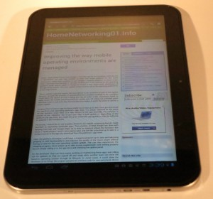 "Toshiba AT300 10"" Android tablet"