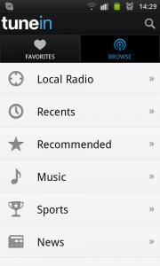 TuneIn Android