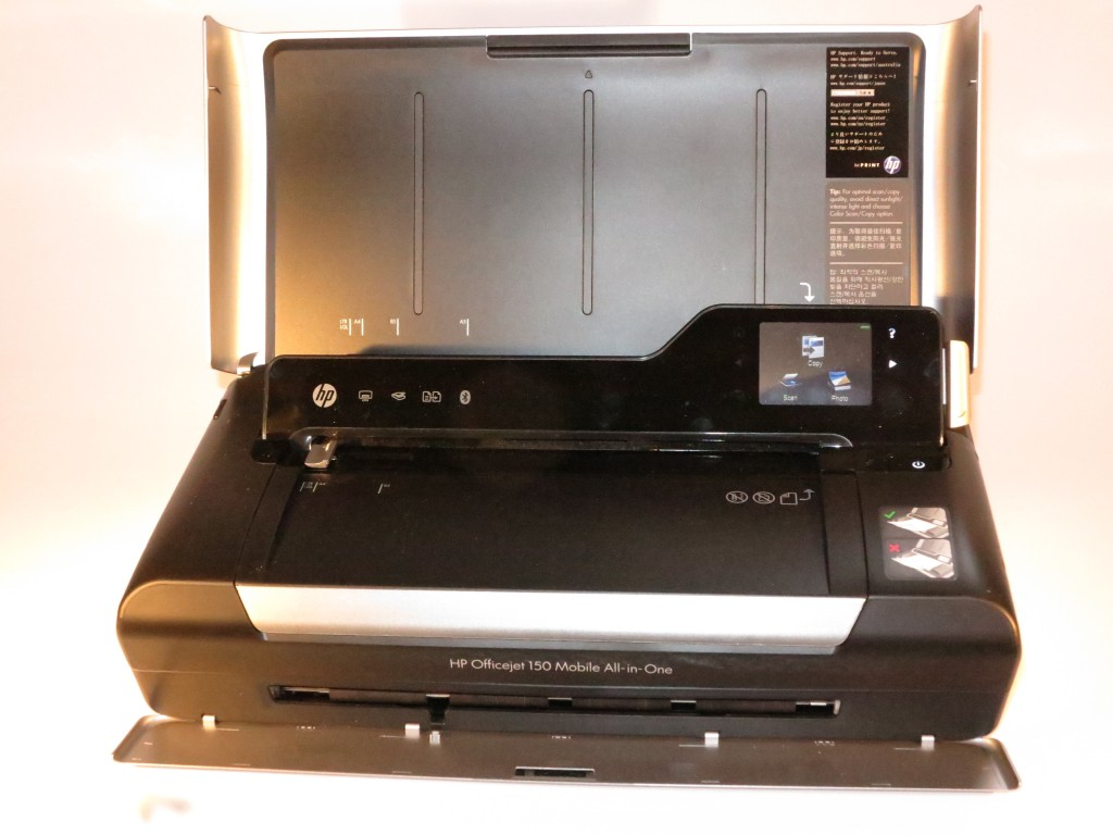 HP OfficeJet 150 mobile multifunction printer ready for operation
