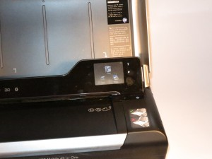 HP OfficeJet 150 mobile multifunction printer touchscreen control panel