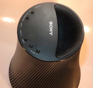 Sony SA-NS510 portable wireless speaker sound port and main controls