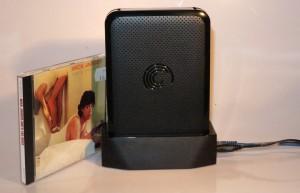 Seagate GoFlex Home NAS next to CD case
