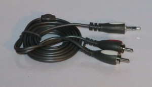 3.5mm stereo to 2 RCA plug audio cable for most audio equipment