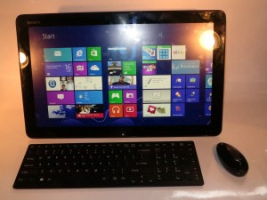 Sony VAIO Tap 20 adaptive all-in-one computer as a desktop