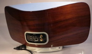 Marantz Audio Consolette rear view with wooden back