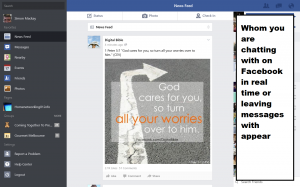 Facebook client for Windows 8