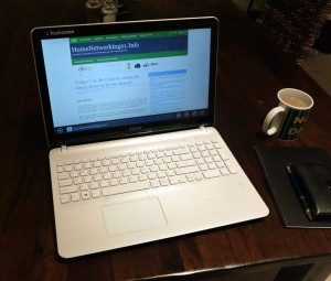 Sony VAIO Fit 15e on dining table