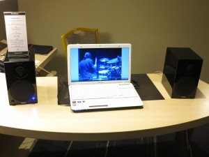 USB speakers with a laptop