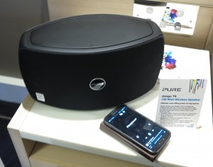 Pure Jongo T6 wireless speaker and Samsung Galaxy Note 2