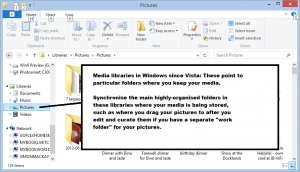 Media libraries in Windows 8.1