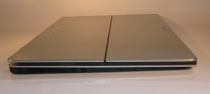 Sony VAIO Fit 13a convertible Ultrabook left hand side with power and audio sockets