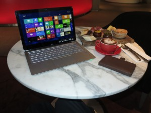 Sony VAIO Fit 13a convertible Ultrabook at Rydges Hotel Melbourne