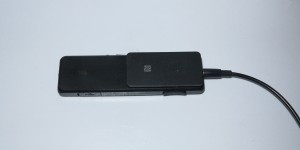 Sony SBH-52 Bluetooth headphone adaptor NFC tie clip