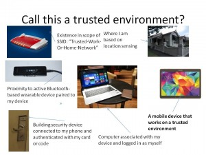 The trusted-environment concept for mobile devices