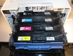 Brother HL-L8350CDW colour laser printer toner cartridges and drum unit