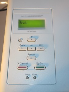 Brother HL-L8350CDW colour laser pritner control panel