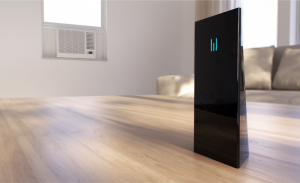 Monolyth air-conditioner controller controlling a window air-conditioner - press image courtesy of Monolyth