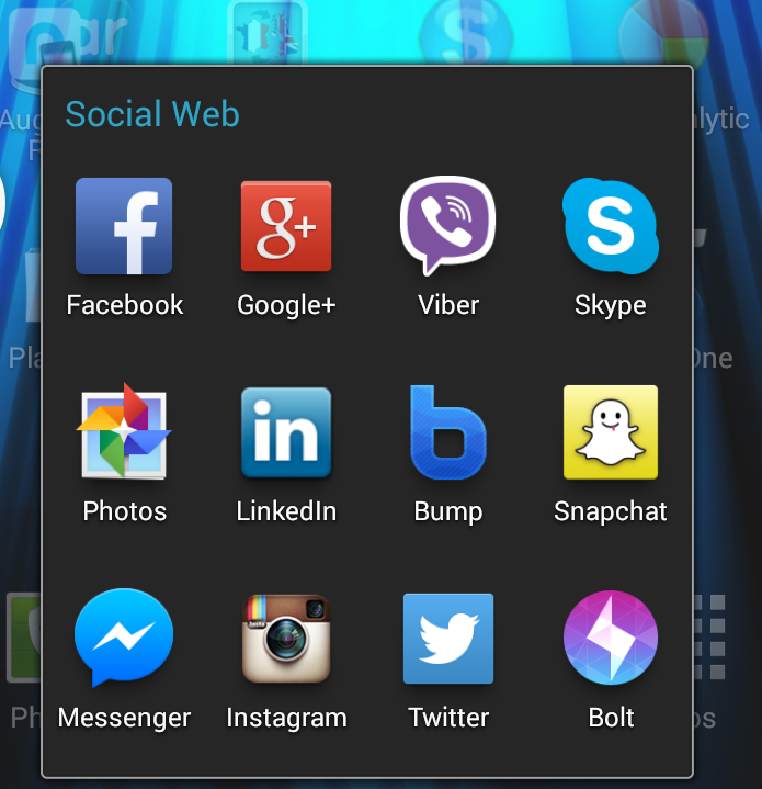 Many social networks and communications apps here