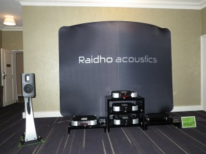 An example of one of the many systems that were demonstrated with bookshelf speakers yet yield the bass