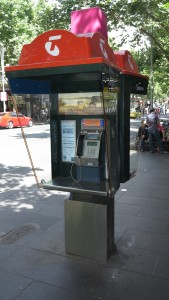 Telstra public phone booth