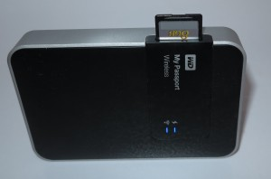 WD MyPassport Wireless mobile NAS with SD card