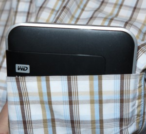 WD MyPassport Wireless mobile NAS in my shirt pocket