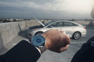 Hyundai Blue Link smartwatch app press photo courtesy of Hyundai America